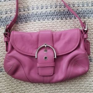 Coach leather handbag purse